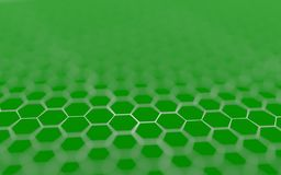 Abstract 3d surface with hexagons. Abstract 3d rendering of futuristic surface with hexagons Royalty Free Stock Photography
