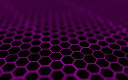 Abstract 3d surface with hexagons. Abstract 3d rendering of futuristic surface with hexagons Royalty Free Stock Image