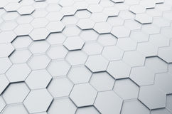 Abstract 3d rendering of futuristic surface with. Hexagons. Sci-fi background Royalty Free Illustration