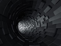 Abstract 3d rendering of futuristic tunnel Royalty Free Stock Photo