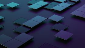 Abstract 3D Rendering of Geometric Surface. Abstract 3d rendering of geometric shapes. Composition with squares. Futuristic surface design. Modern background for Royalty Free Stock Image