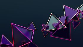 Abstract 3D Rendering of Geometric Shapes. Modern background design for poster, cover, branding, banner, placard Stock Images