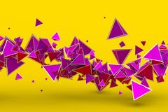 Abstract 3D Rendering of Geometric Shapes. Modern background design for poster, cover, branding, banner, placard Royalty Free Stock Photos