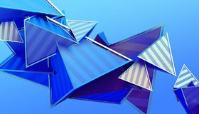 Abstract 3D Rendering of Geometric Shapes stock illustration