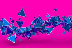 Abstract 3D Rendering of Geometric Shapes. Modern background design for poster, cover, branding, banner, placard vector illustration