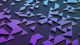 Abstract 3D Rendering of Geometric Surface. Composition with triangles. Futuristic modern background design for poster, cover, branding, banner, placard Stock Image