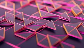 Abstract 3D Rendering of Geometric Surface. Composition with triangles. Futuristic modern background design for poster, cover, branding, banner, placard vector illustration
