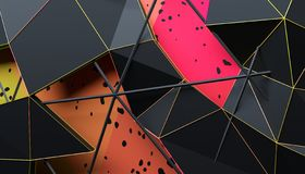 Abstract 3D Rendering of Geometric Surface. Futuristic modern background design for poster, cover, branding, banner, placard stock illustration