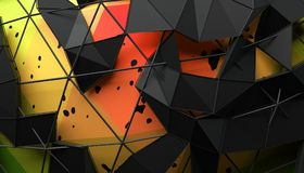 Abstract 3D Rendering of Geometric Surface. Futuristic modern background design for poster, cover, branding, banner, placard royalty free illustration