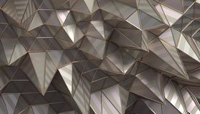 Abstract 3D Rendering of the Polygonal Surface. Abstract 3d rendering of geometric surface. Modern polygonal background design for poster, cover, branding Stock Photography