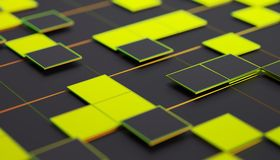 Abstract 3D Rendering of Geometric Surface. Abstract 3d rendering of geometric shapes. Composition with squares. Futuristic surface design. Modern background for royalty free illustration