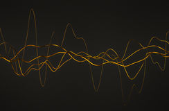 Abstract 3D Rendering of Glossy Wavy Lines. Stock Photos