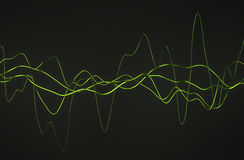 Abstract 3D Rendering of Glossy Wavy Lines. Royalty Free Stock Photography