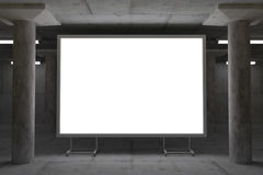 Abstract 3d rendering of glowing billboard in industrial space Royalty Free Stock Photography