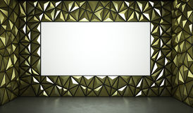 Abstract 3d rendering of gold surface Background with space for Royalty Free Stock Images