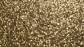 Abstract 3d rendering of gold surface. Futuristic background wit Royalty Free Stock Photo