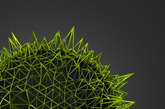 Abstract 3D Rendering of Green Chaotic Structure Stock Photos