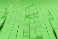 Abstract 3D rendering of green sine waves Royalty Free Stock Photo