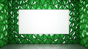 Abstract 3d rendering of green surface Background with space for. Text Royalty Free Stock Image