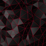 Abstract 3D Rendering of Low Poly Black Surface. Abstract 3d rendering of black surface. Background with futuristic polygonal shape Stock Photography