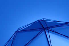 Abstract 3D Rendering of Low Poly Blue Shape Stock Photography