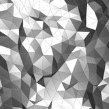 Abstract 3D Rendering of Low Poly Chrome Surface. Abstract 3d rendering of chrome surface. Background with futuristic low poly shape Stock Photos
