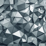 Abstract 3D Rendering of Low Poly Metal Surface Royalty Free Stock Images