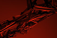 Abstract 3D Rendering of Low Poly Shape. Royalty Free Stock Photo