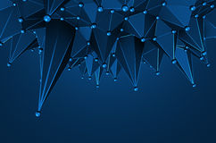 Abstract 3D Rendering of Low Poly Surface. Royalty Free Stock Photography
