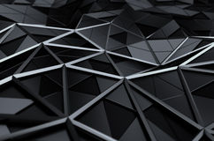 Abstract 3D Rendering of Low Poly Surface. Royalty Free Stock Image