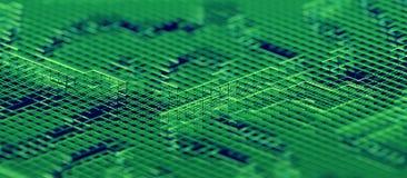 Abstract 3D Rendering of Modern Background. Abstract 3d rendering of technological surface. Modern background design vector illustration