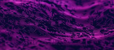 Abstract 3D Rendering of Modern Background. Abstract 3d rendering of technological surface. Modern background design stock illustration