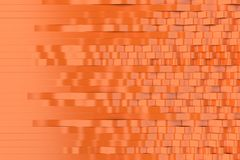Abstract 3D rendering of orange sine waves. Bended stripes background. Reflective surface pattern. 3D render illustration Royalty Free Stock Images