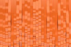 Abstract 3D rendering of orange sine waves. Bended stripes background. Reflective surface pattern. 3D render illustration Stock Photos