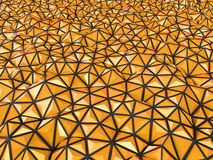 Abstract 3d rendering of orange surface Background with futurist. Ic polygonal Stock Photo