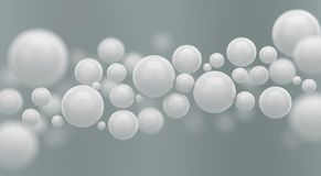 Abstract Futuristic polygon white sphere or ball background. Abstract 3d rendering of polygon white sphere or ball Futuristic background vector illustration
