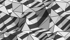 Abstract 3D Rendering of Polygonal Background. Abstract 3d rendering of triangulated surface. Modern background. Futuristic polygonal shape. Low poly Stock Photo
