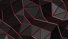 Abstract 3D Rendering of Polygonal Background. Abstract 3d rendering of triangulated surface. Modern background. Futuristic polygonal shape. Low poly Stock Photos
