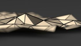 Abstract 3D Rendering of Polygonal Background. Abstract 3d rendering of triangulated surface. Modern background. Futuristic polygonal shape. Low poly vector illustration