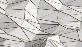Abstract 3D Rendering of Polygonal Background. Abstract 3d rendering of triangulated surface. Modern background. Futuristic polygonal shape. Low poly Stock Image