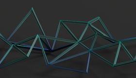 Abstract 3D Rendering of Polygonal Background. Abstract 3d rendering of triangulated surface. Modern background. Futuristic polygonal shape. Low poly Stock Photography