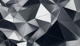 Abstract 3D Rendering of Polygonal Background. Abstract 3d rendering of triangulated surface. Modern background. Futuristic polygonal shape. Low poly Royalty Free Stock Photography