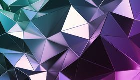 Abstract 3D Rendering of Polygonal Background. Abstract 3d rendering of triangulated surface. Modern background. Futuristic polygonal shape. Low poly royalty free illustration