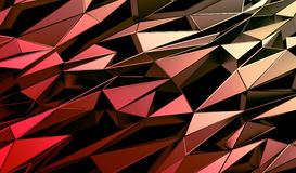Abstract 3D Rendering of Polygonal Background. Abstract 3d rendering of triangulated surface. Contemporary background of futuristic polygonal shape. Distorted stock illustration