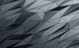 Abstract 3D Rendering of Polygonal Background. Abstract 3d rendering of triangulated surface. Contemporary background of futuristic polygonal shape. Distorted royalty free illustration