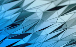 Abstract 3D Rendering of Polygonal Background. Abstract 3d rendering of triangulated surface. Contemporary background of futuristic polygonal shape. Distorted Stock Photo