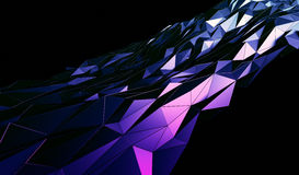 Abstract 3D Rendering of Polygonal Background. Abstract 3d rendering of triangulated surface. Contemporary background of futuristic polygonal shape. Distorted vector illustration