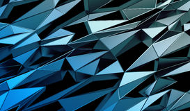 Abstract 3D Rendering of Polygonal Background. Abstract 3d rendering of triangulated surface. Contemporary background of futuristic polygonal shape. Distorted Stock Images
