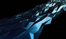 Abstract 3D Rendering of Polygonal Background. Abstract 3d rendering of triangulated surface. Contemporary background of futuristic polygonal shape. Distorted Stock Photos