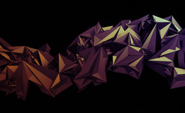 Abstract 3D Rendering of Polygonal Background. Stock Photography